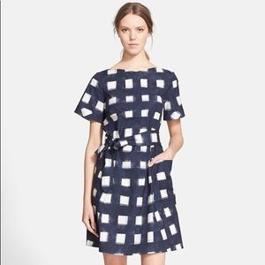 TORY BURCH tie front poplin square dress